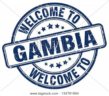 welcome to Gambia stamp. welcome to Gambia.