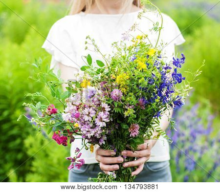 Wildflowers In The Hands