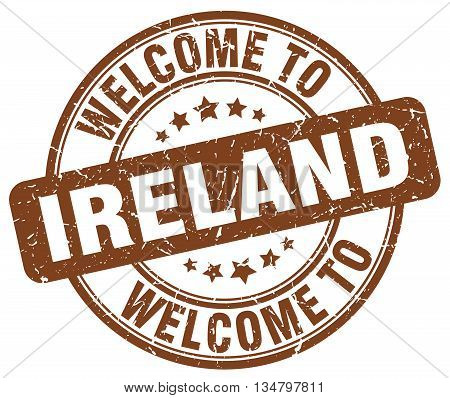 welcome to Ireland stamp. welcome to Ireland.
