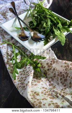 Cooking Concept With Fresh Herb