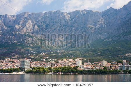 View Of The Resort Makarska. Croatia