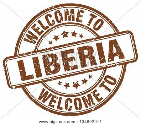 welcome to Liberia stamp. welcome to Liberia.