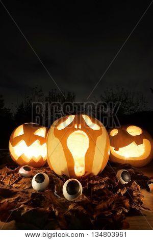 Halloween Jack-o-lantern Pumpkins