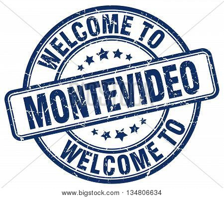 welcome to Montevideo stamp. welcome to Montevideo.