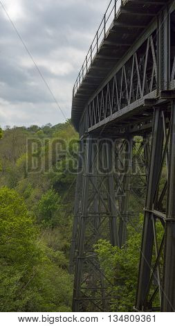The Meldon Viaduct is a railway bridge built in 1871 to carry the London and South Western Railway across the West Okement River at Meldon on Dartmoor in Devon, South West England.