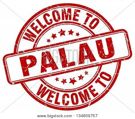 welcome to Palau stamp. welcome to Palau.