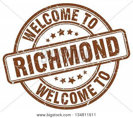 welcome to Richmond stamp. welcome to Richmond.