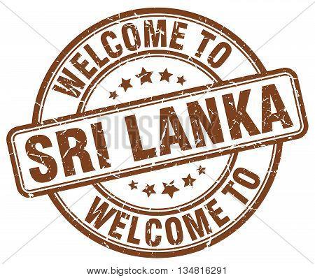 welcome to Sri Lanka stamp. welcome to Sri Lanka.