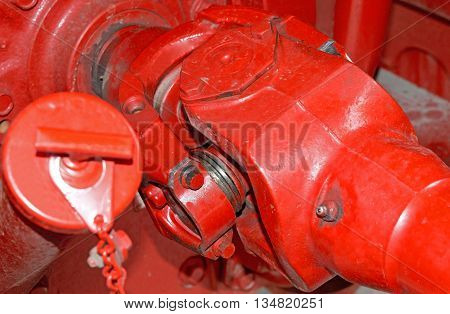 the big new tractor red automobile shaft