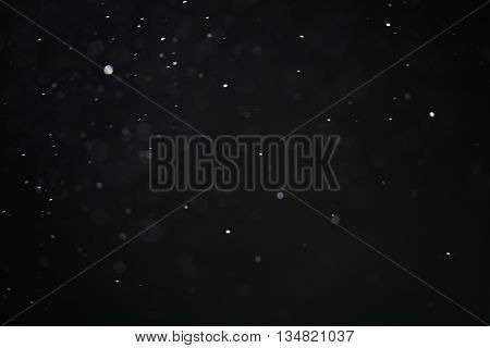 dust particles over black bokeh background fx backdrop, real photo no cgi