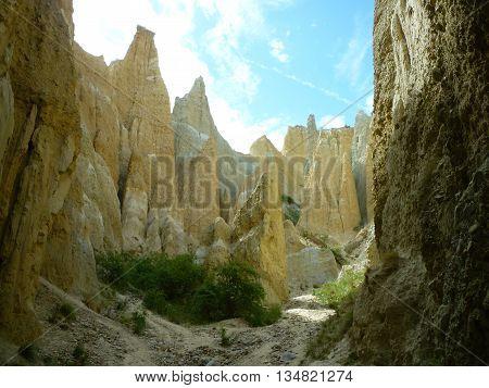 The natural Clay Cliffs formation near Omarama 2