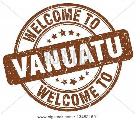 welcome to Vanuatu stamp. welcome to Vanuatu.