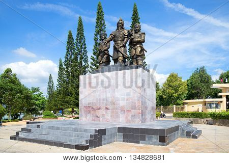 PHAN THIET, VIETNAM - DECEMBER 24, 2015: The monument to the first Vietnamese Emperor Le Loi. Historical landmark of the city Phan Thiet
