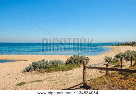 Summer of Brighton Beach in Melbourne Australia