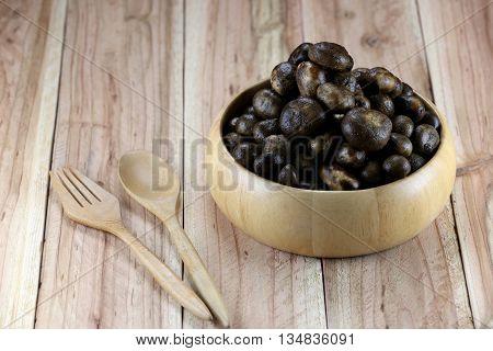 Barometer Earthstars or hygroscopic earthstar of mushroom VegetableIn Thailand is ingredient to cooking.