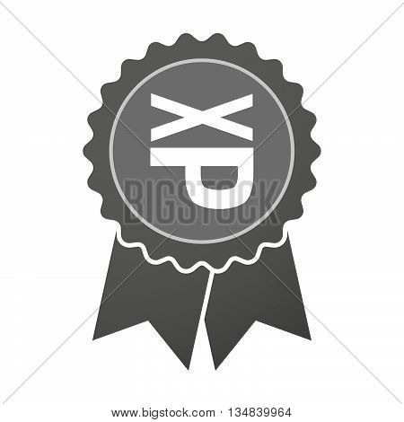 Isolated Award Badge With  A Tongue Sticking Text Face Emoticon