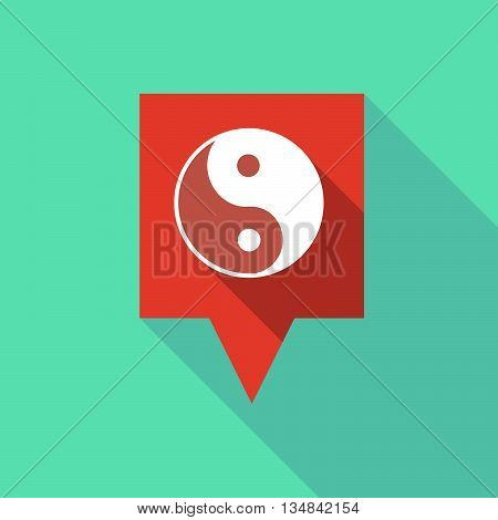 Long Tooltip Icon With A Ying Yang