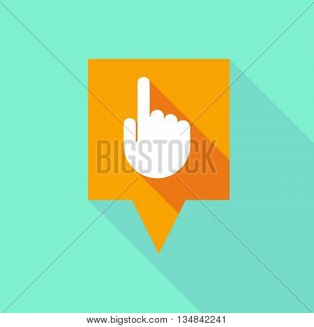 Long Tooltip Icon With A Pointing Hand
