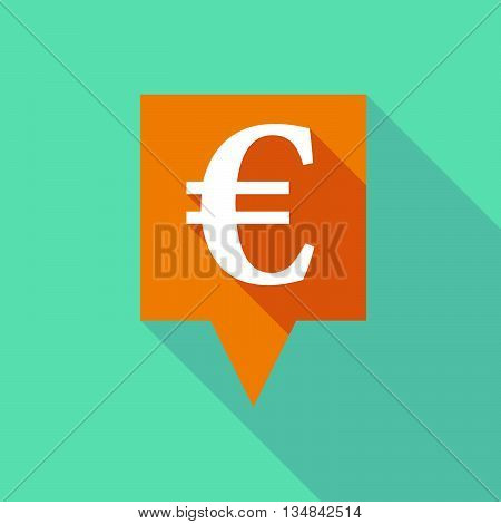 Long Tooltip Icon With An Euro Sign