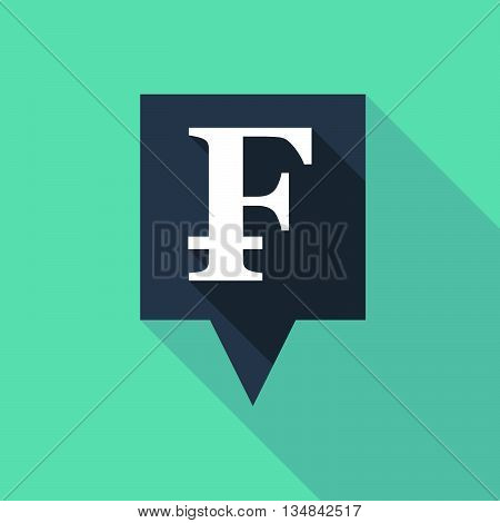 Long Tooltip Icon With A Swiss Franc Sign