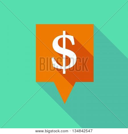 Long Tooltip Icon With A Dollar Sign