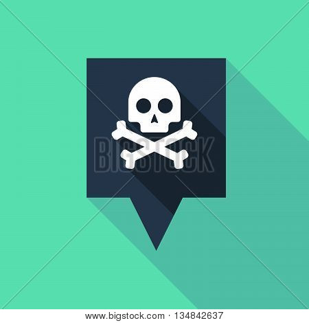 Long Tooltip Icon With A Skull