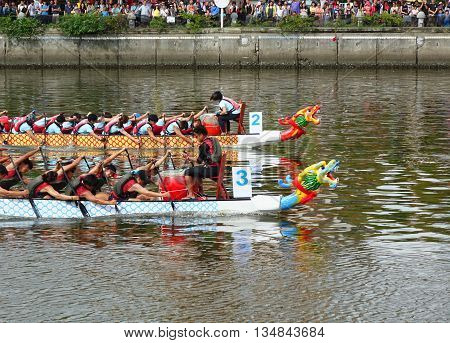 The 2016 Dragon Boat Festival In Taiwan