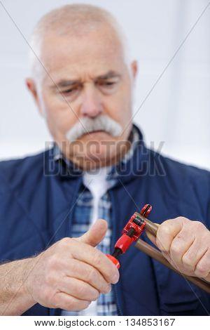 plumber repairing a sink