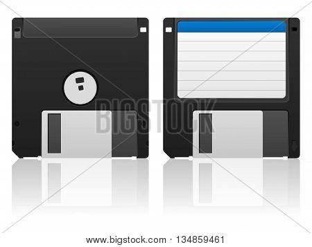 Diskette on a white background. Vector illustration.