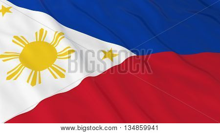 Filipino Flag Hd Background - Flag Of The Philippines 3D Illustration