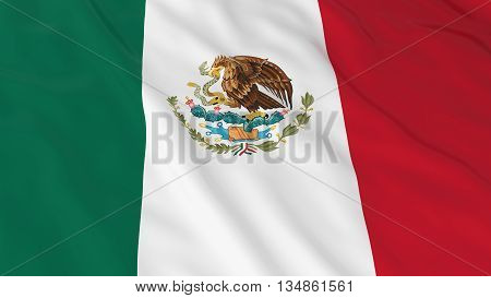 Mexican Flag Hd Background - Flag Of Mexico 3D Illustration