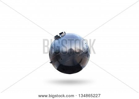 Old Naval bomb isolated on white background