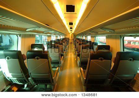 Interior Of Train In Finland