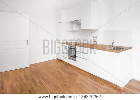 Modern White Kitchen - Home Interior