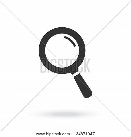 Magnifying glass icon. Search microscope.  Magnifying glass vector eps 10