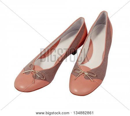 pink shoes isolated on white background