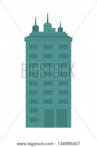 Urban and city concept represented by buidling icon over flat and isolated background
