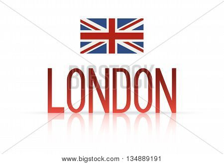 Word and Icon of London city concept . Vector