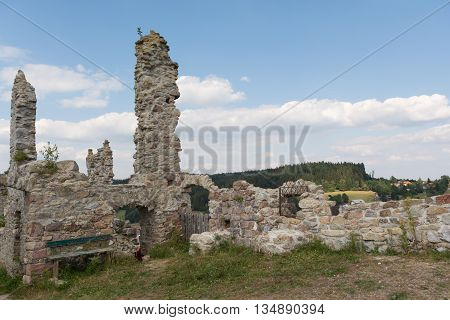 Remains of the castle ruins Waxenberg - Austria