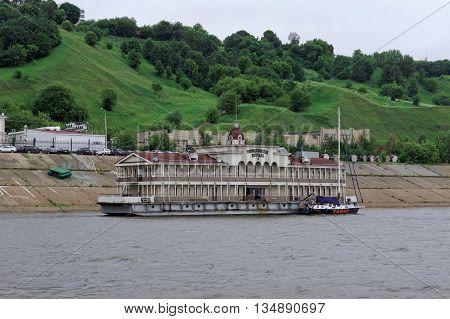 Nizhny Novgorod Russia - June 11.2014. Romodanovsky pier on the river Oka.