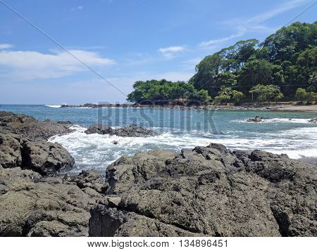 Montezuma Beach in Costa Rica on the Pacific coast
