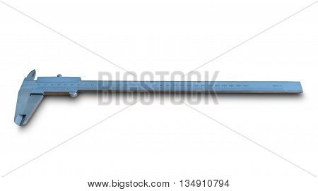 Caliper. Device used to measure the distance between two symmetrically opposing sides;Calipers isolated on white background