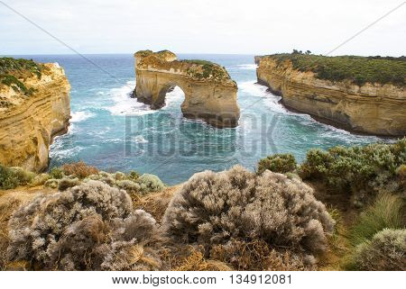Island Archway Great Ocean Road before erosion destroyed the arch
