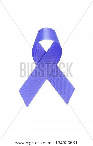 Blue ribbon. Colon cancer awareness. healthcare and medicine concept.