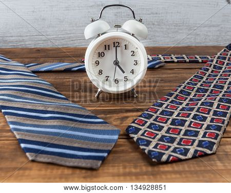 Nine To Five Working Hours Business Concept