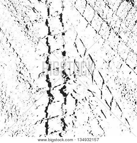Tire Tracks. Dirty Grunge Tire Tracks. Vector Print Textured Set. Grunge texture. Grunge background. distressed texture. distressed background. vector illusration. Damaged background. Halftone texture.