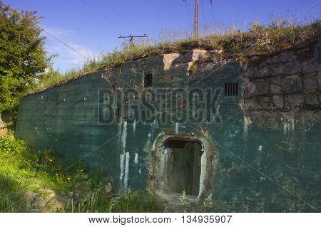 Poland Zachodniopomorskie Wałcz Pommernstellung Bunker Destroyed after WW II
