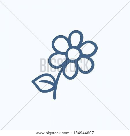 Flower vector sketch icon isolated on background. Hand drawn Flower icon. Flower sketch icon for infographic, website or app.