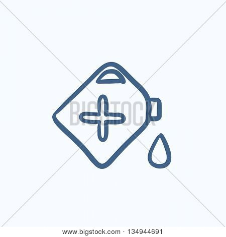 Gas container vector sketch icon isolated on background. Hand drawn Gas container icon. Gas container sketch icon for infographic, website or app.