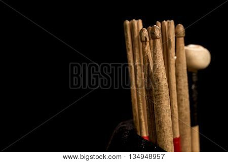 Drum Sticks For Drums, Black Background